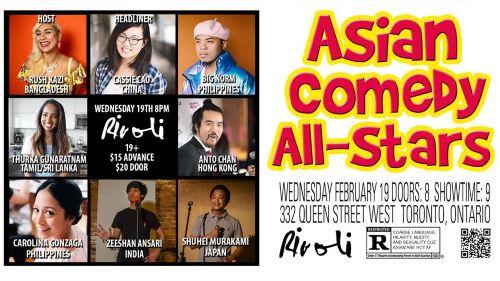 Picture of Rush Kazi, Cassie Cao, Big Norm, Thurka Gunaratnam, Anto Chan, Carolina DG, Zeeshan Ansari, and Shuhei Murakami in Asian Comedy All Stars