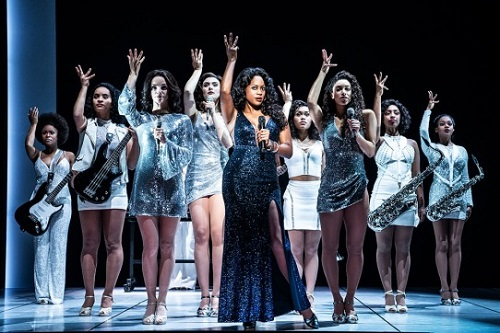 Picture of Dan'Yelle Williamson and ensemble in Summer: The Donna Summer Musical