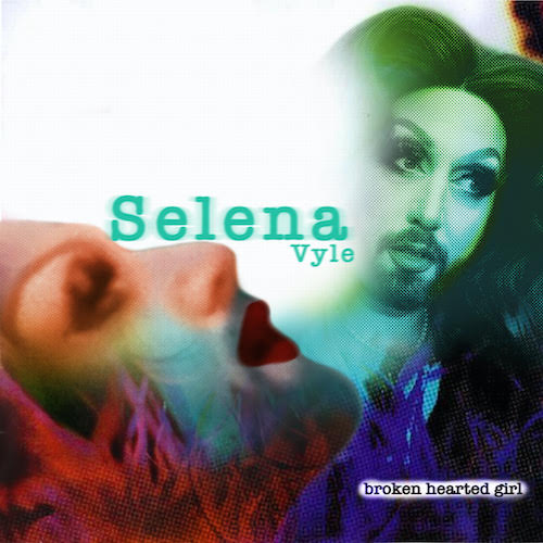 Photo of Selena Vyle in Broken Hearted Girl by Spencer Wilson. Image is a parody of Alanis Morissette's Jagged Little Pill album cover.